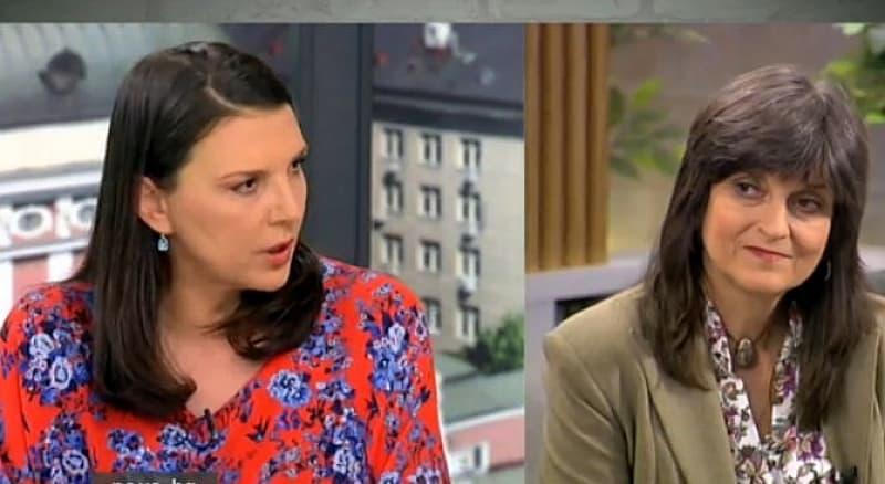 Бетина Жотева и Къдринка Къдринова по време на предаване по случая в Нова телевизия