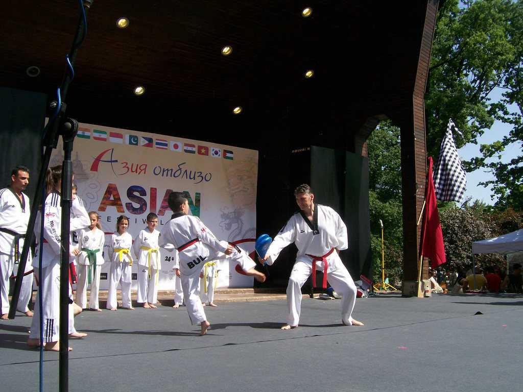 Демонстрацията на източни бойни изкуства привлече всеобщо внимание. Снимка: Къдринка Къдринова