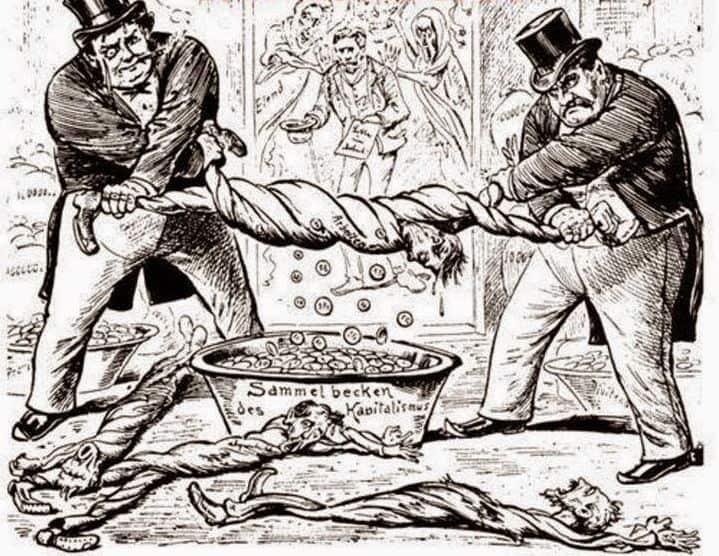 Капитализмът било от 19-ти, било от 21-ви век има все едно и също отношение към работниците. Илюстрация: izquierdadiario.mx