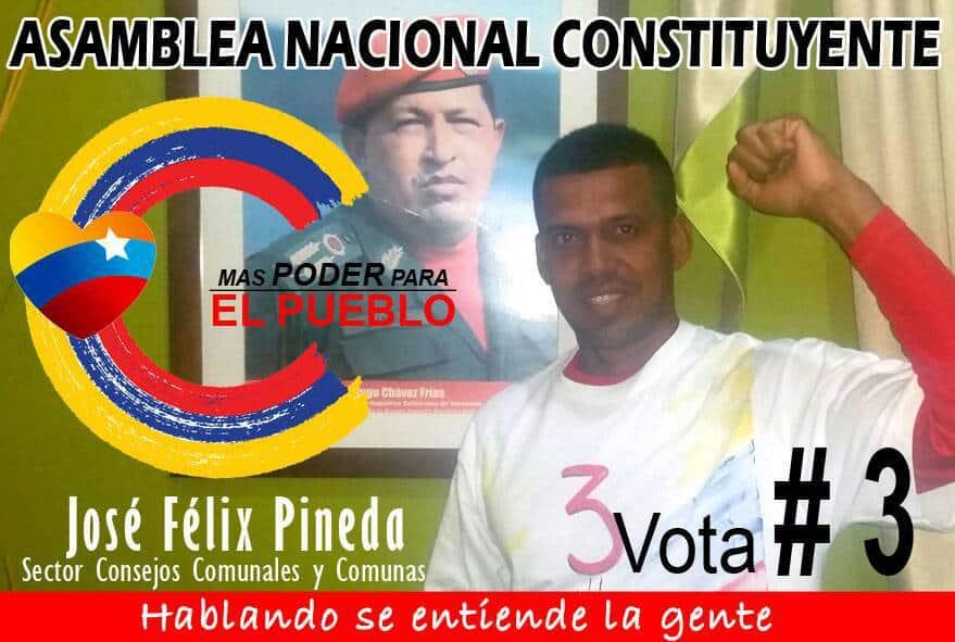 Застреляният от нападател в дома си в деня на вота кандидат за член на Конституционното събрание Хосе Феликс Пинеда. Снимка: Туитър