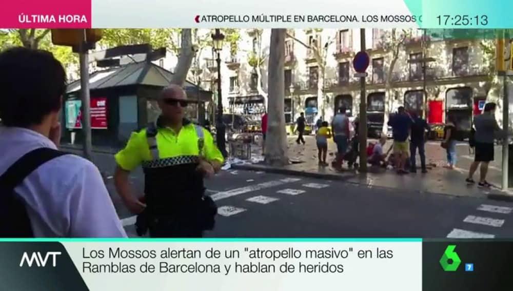 Кадър от телевизия La Sexta от мястото на трагедията