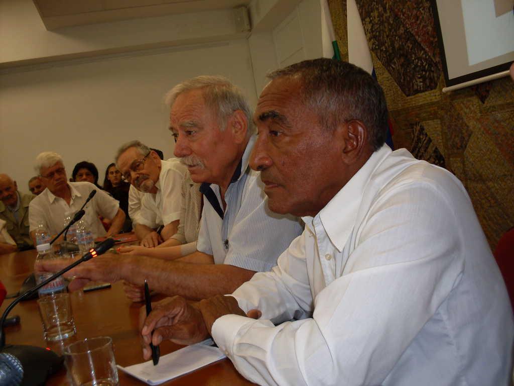 Георги Иванов и Арналдо Тамайо по време на срещата в София. Снимка: Къдринка Къдринова