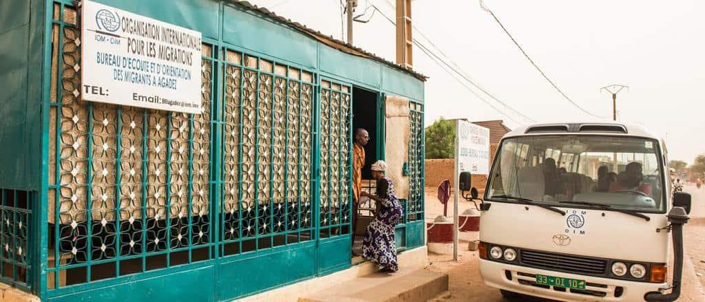 """Открито от световната организация по миграцията """"Бюро по изслушване и ориентиране на мигранти"""" в град Агадес. СНимка: OIM"""
