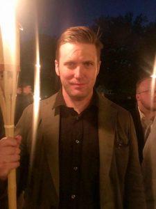 Водачът на движението alt-rigt Ричард Спенсър бе сред водачите и на ултрадясното шествие в Шарлотсвил. Снимка: Twitter