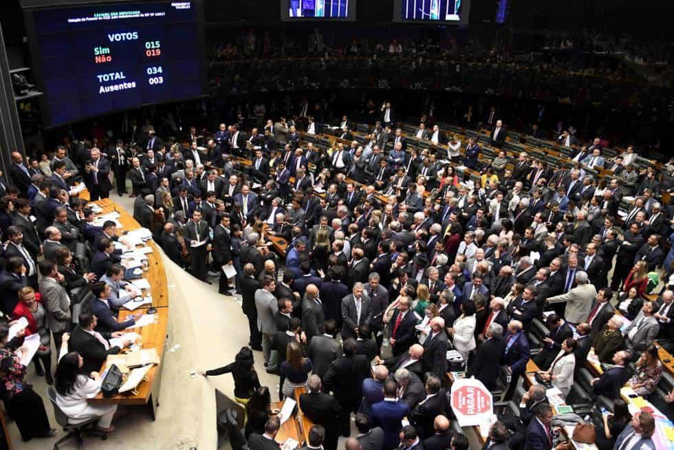 Парламентарната зала при обявяването на резултата от гласуването. Снимка: El Pais