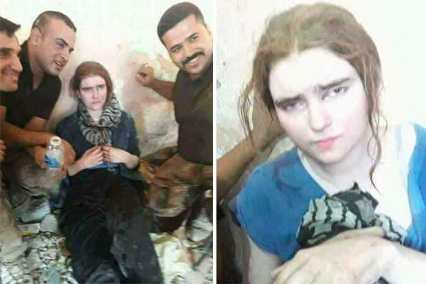 Линда Венцел при пленяването ѝ от иракски военни в Мосул. Снимка: The Times