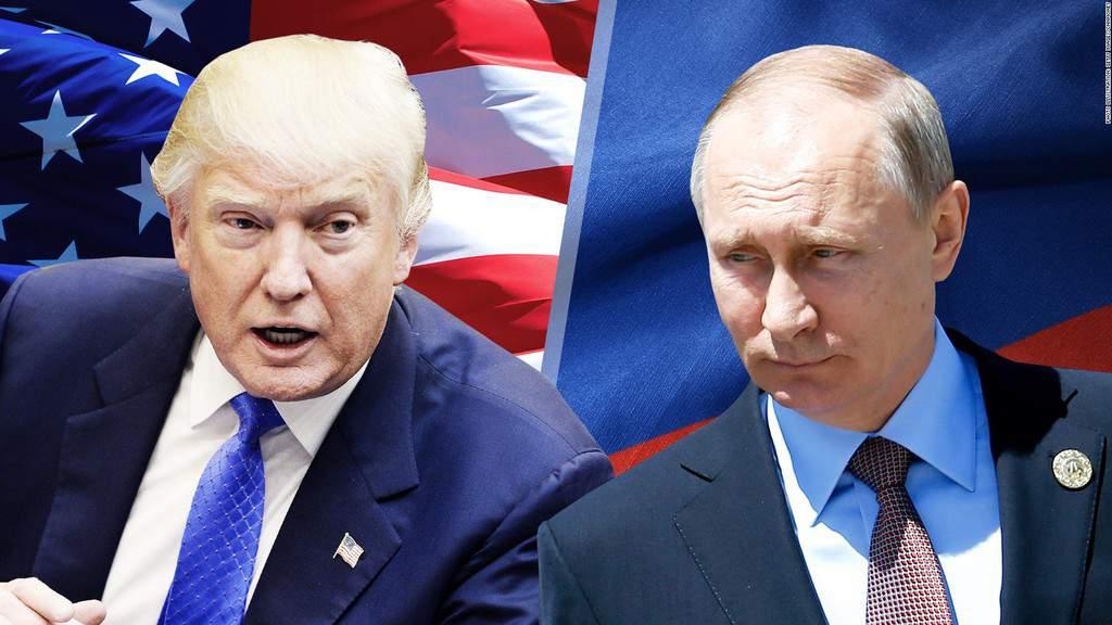 Въпреки уж позитивните лични контакти между Тръмп и Путин, политиката на САЩ днес повече произвежда студена война, отколкото преди. Колаж: CNN