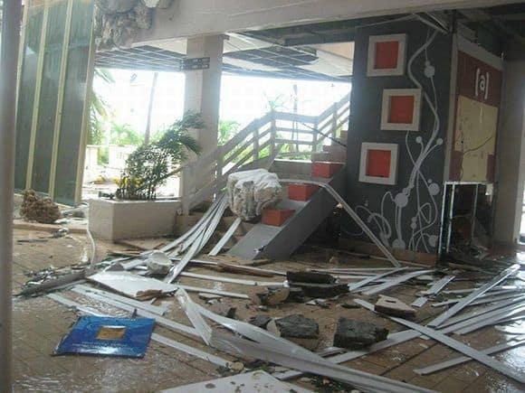 """Хотелите на """"Кайо Коко"""" са съсипани. Снимка: Cubadebate"""