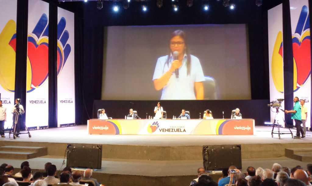Делси Родригес произнася приветствието си към участниците във форума. Снимка: Къдринка Къдринова