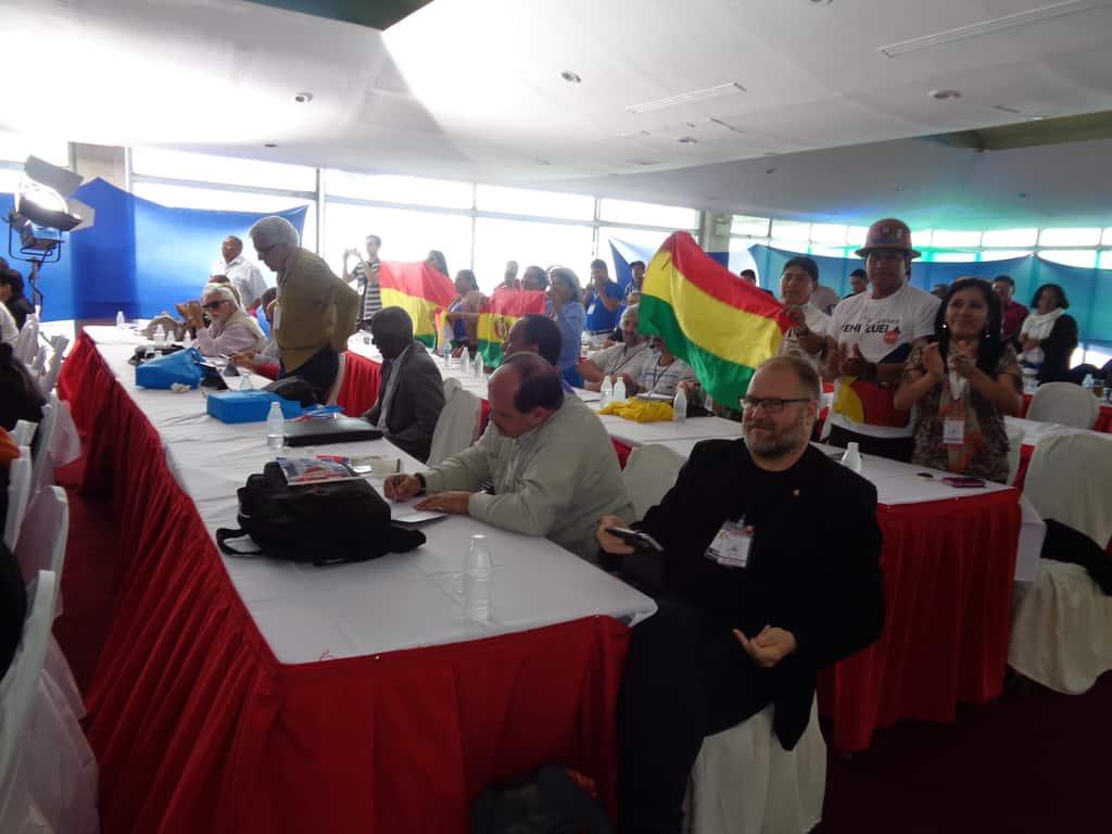 В залата по време на срещата с Мадуро и Моралес. Снимка: Къдринка Къдринова