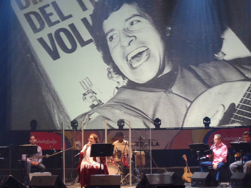 Голямата венесуелска певица Лилия Вера също пя за Виктор Хара. Снимка: Къдринка Къдринова