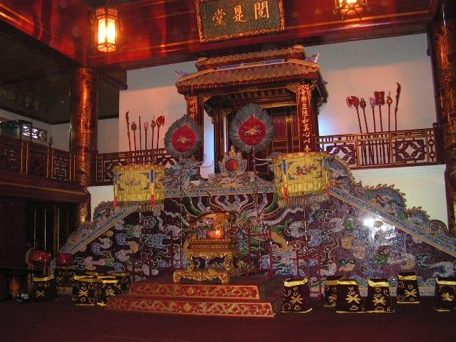 Тронната зала в дворцовия комплекс в Хюе. Снимка: Къдринка Къдринова