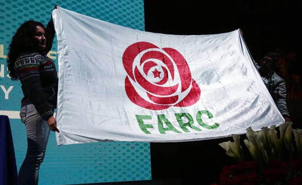 Това е новата емблема на FARC вече като политическа партия, чието пълно име отсега-нататък означава Обща революционна алтернативна сила. Снимка: EFE
