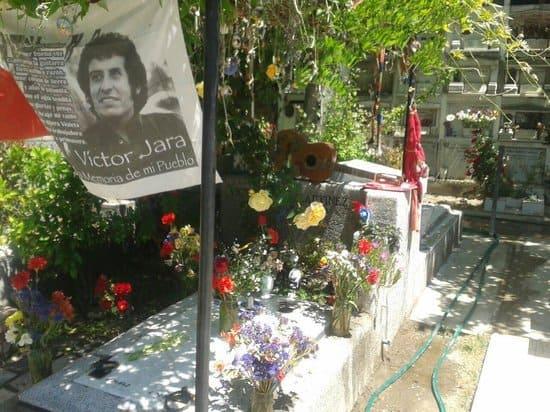 Днес Виктор Хара почива в този гроб. Снимка: Туитър