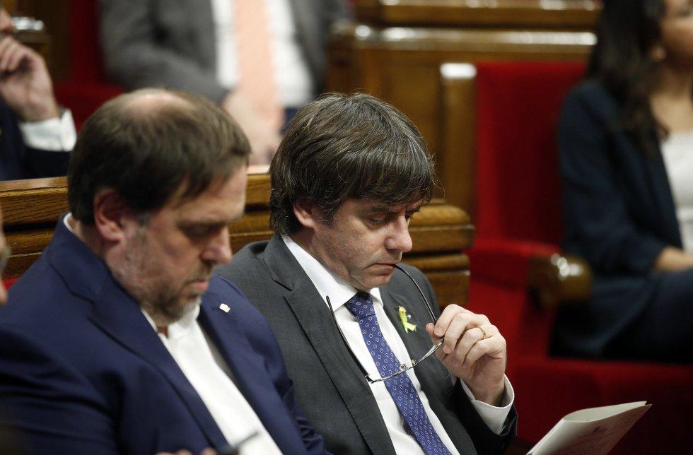 Каталунското ръководство не само вече е уволнено от централната власт в Мадрид, но е обект на обвинения и от испанската прокуратура. Снимка: EFE