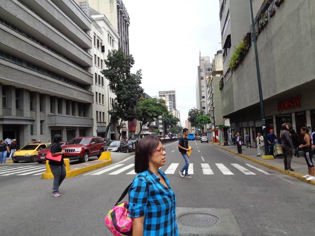 Улица в центъра на Каракас. Снимка: Къдринка Къдринова