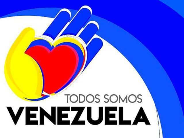 """Емблемата на световната среща """"Всички сме Венесуела"""""""