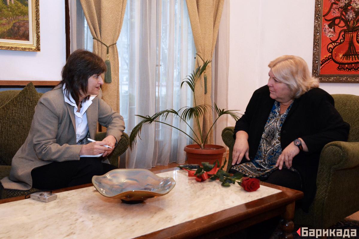 По време на интервюто на Алейда Гевара (вдясно), взето от Къдринка Къдринова. Снимка: Ивайло Атанасов