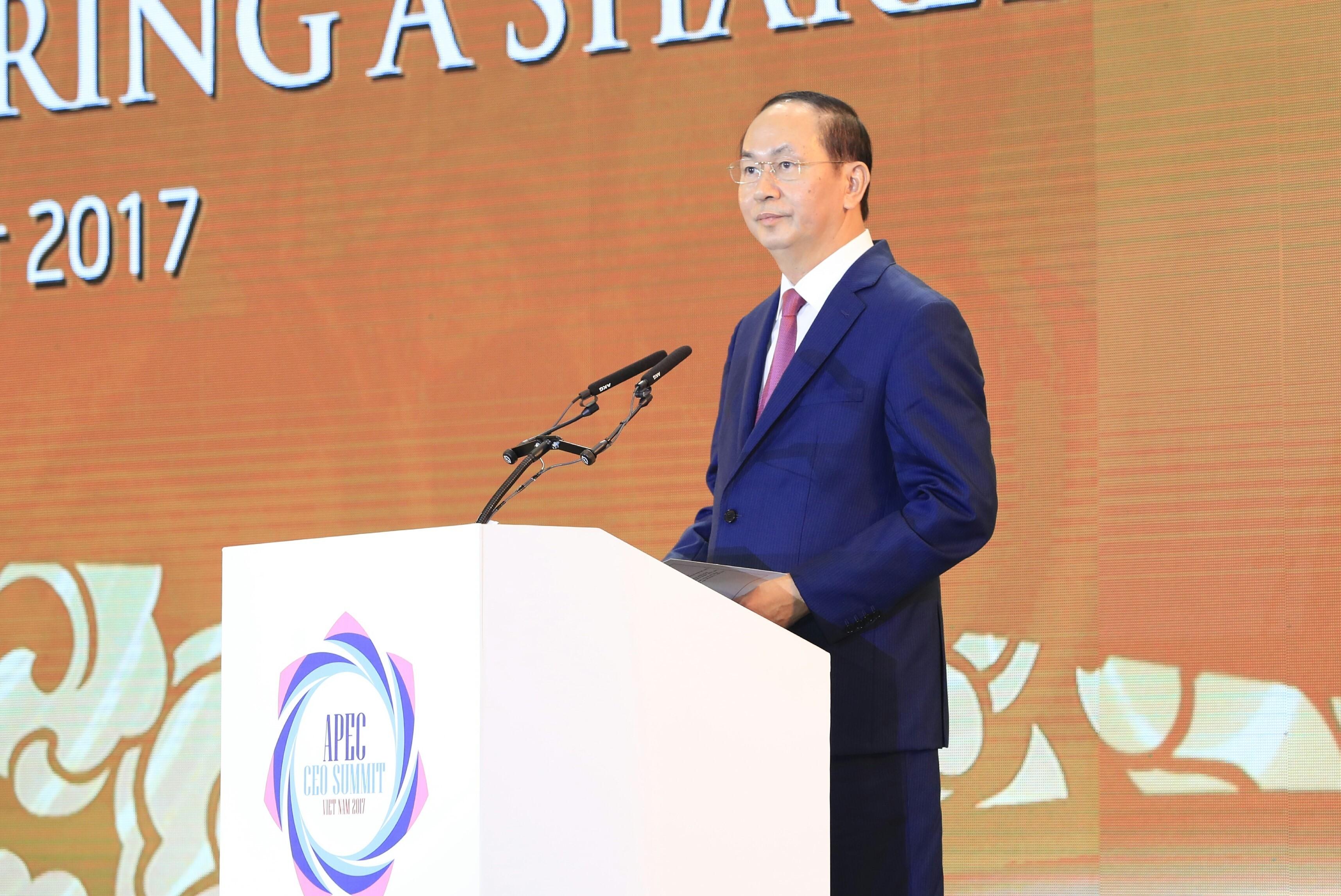Президентът на Виетнам Чан Дай Куанг по време на словото си