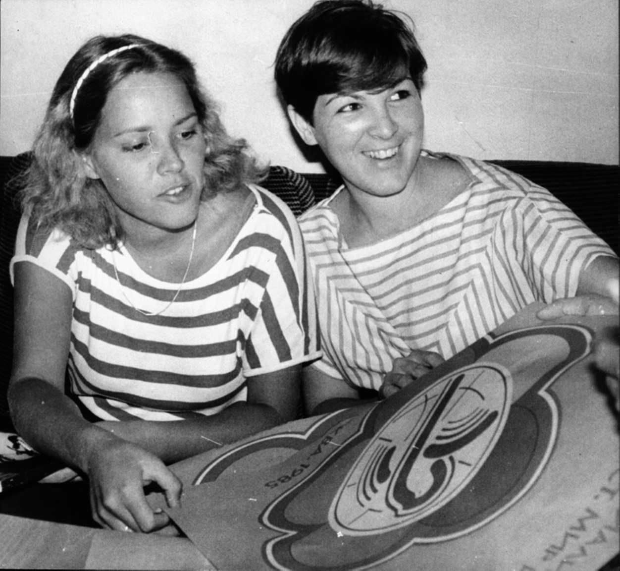 Алейда (вдясно) и Селия Гевара по време на посещението им в София през 1985 г. Тогава Алейда е на 25 г., а Селия–на 23 г. Снимка: Николай Чечкин