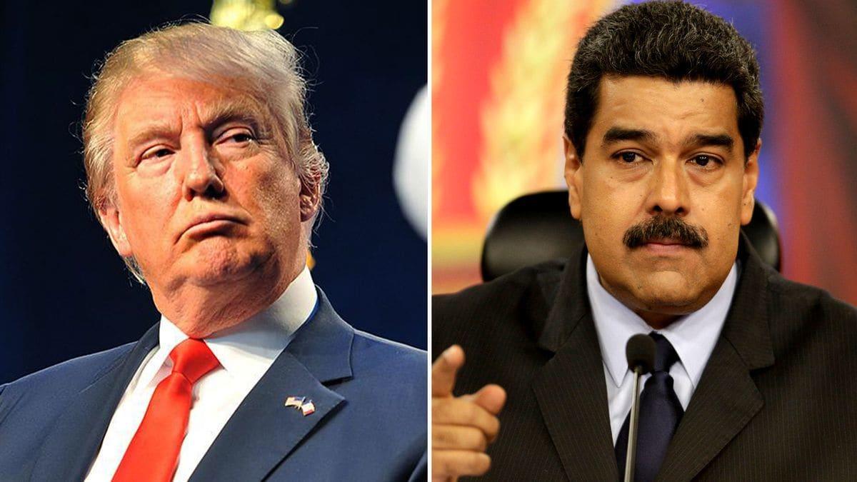 Доналд Тръмп (вляво) явно си е поставил за цел да свали Николас Мадуро, като задуши финансово Венесуела. Колаж: Havana Times