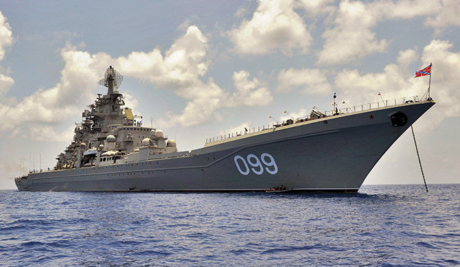 """Руският атомен крайцер """"Петър Велики"""". Снимка: РИА"""