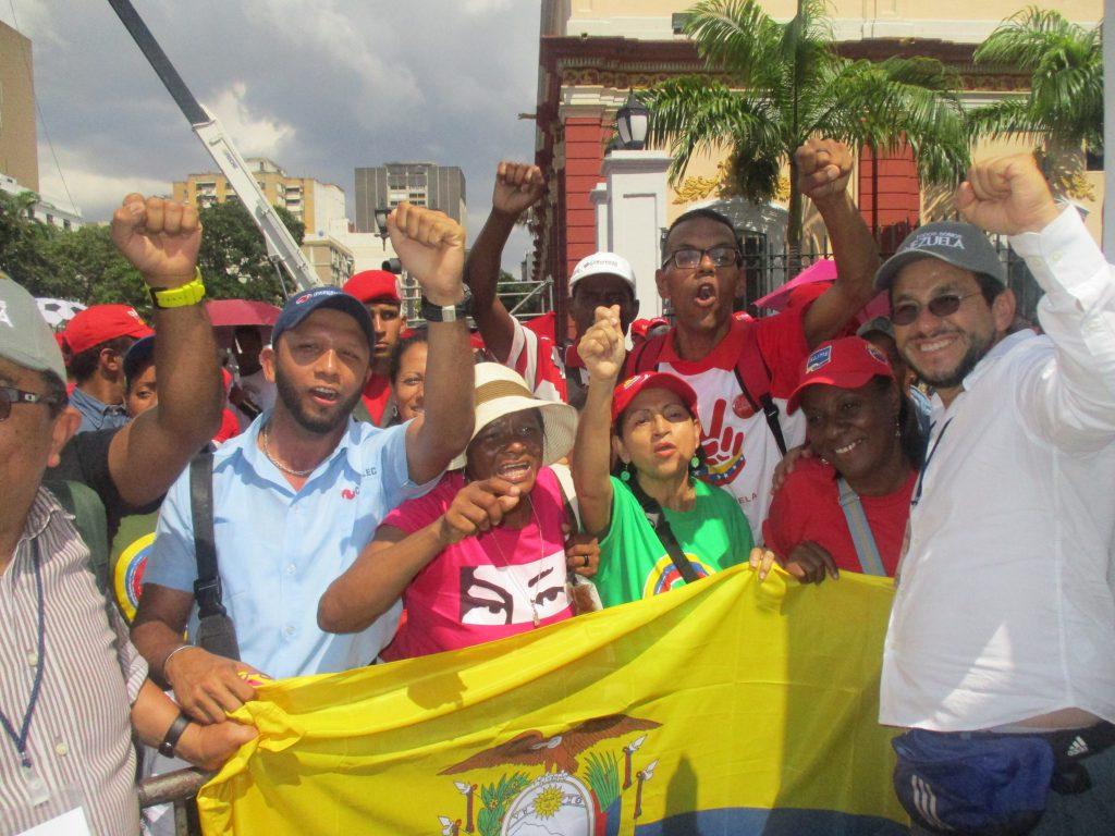 Чавистките митинги в центъра на Каракас продължават да кипят от ентусиазъм. Снимка: Къдринка Къдринова