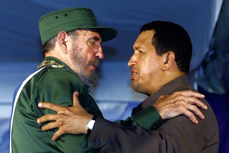 Фидел Кастро и Уго Чавес