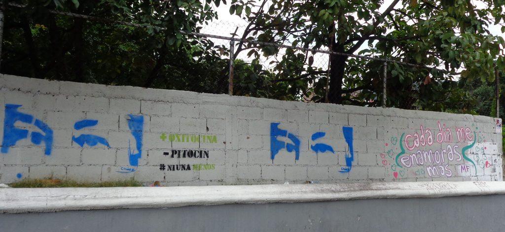 """Графити с погледа на Чавес на стена в квартал """"Либертадор"""". Снимка: Къдринка Къдринова"""