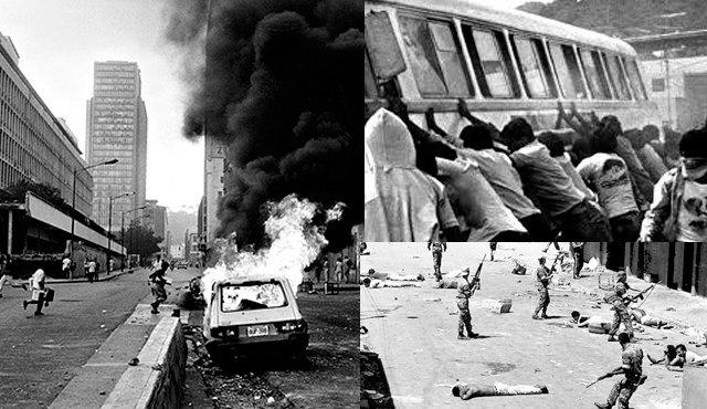 """През 1989 г. гладният бунт, известен като """"Каракасо"""", води до много човешки жертви"""