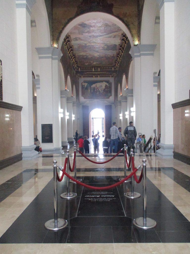 До 2011-та на ограденото място се е намирал сакрофагът на Симон Боливар. Снимка: Къдринка Къдринова