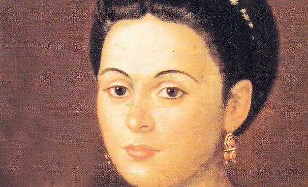 Фрагмент от най-известния портрет на Мануела Саенс