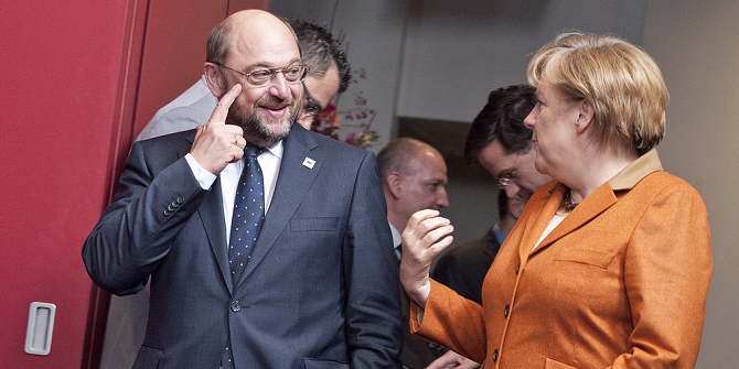 Широката коалиция, която Мартин Шулц реши да договаря с Ангела Меркел, е на път да погребе лявата идентификация на социалдемокрацията не само в Германия, но и в цяла Европа. Снимка: Европейски парламент