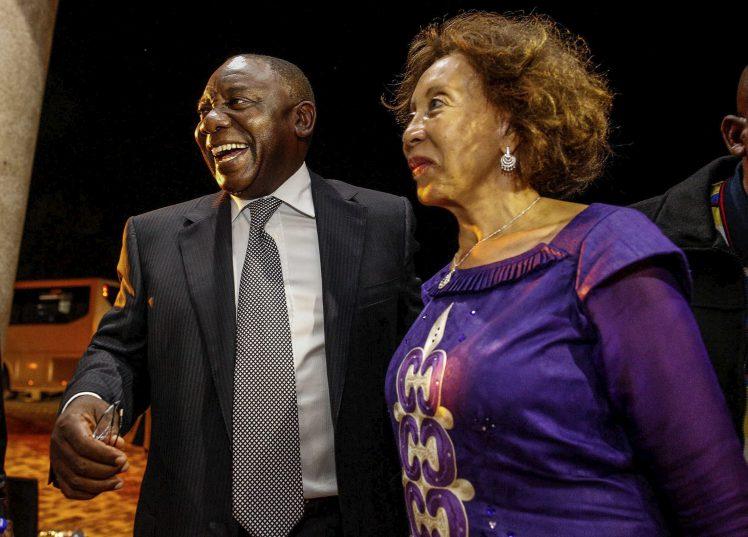 Сирил Рамафоса със съпругата си Тшепо Мотсепе. Снимка: citizen.co.za