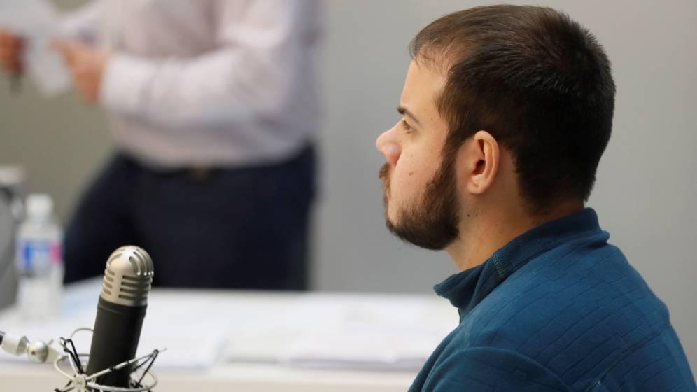 Пабло Хасел по време на делото срещу него на 1 февруари т.г. Снимка: EFE