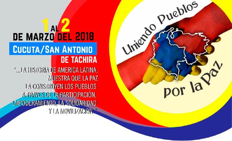 """Плакатът на срещата """"Прегръдка на мира"""", която ще премине под лозунга """"Обединяване на народите за мир"""". Илюстрация: Resumen Latinoamericano"""