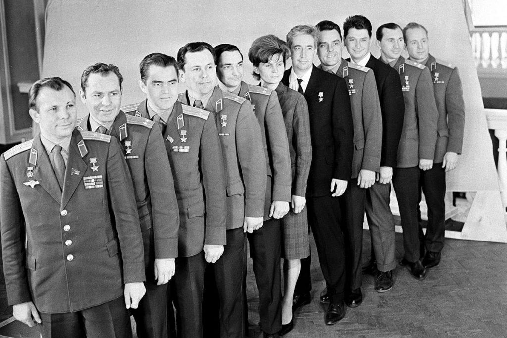 Юрий Гагарин е комадир на отряда на съветските космонавти. Снимка: aftershok