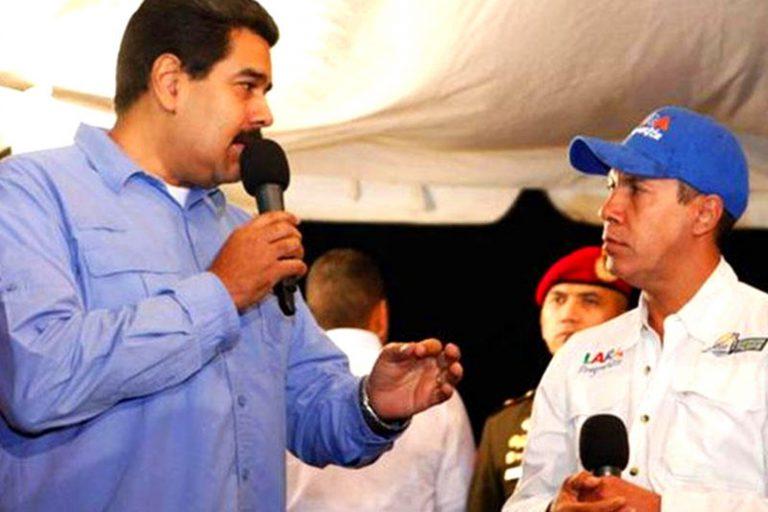 Николас Мадуро в дискусия с Енри Фалкон. Снимка: Caracas Chronicles