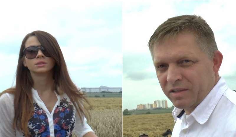 Словашкият премиер Роберт Фицо и личната му съветничка Мария Трошкова, която според Кучях била свързана с Антонио Вадала. Снимка: interris.it