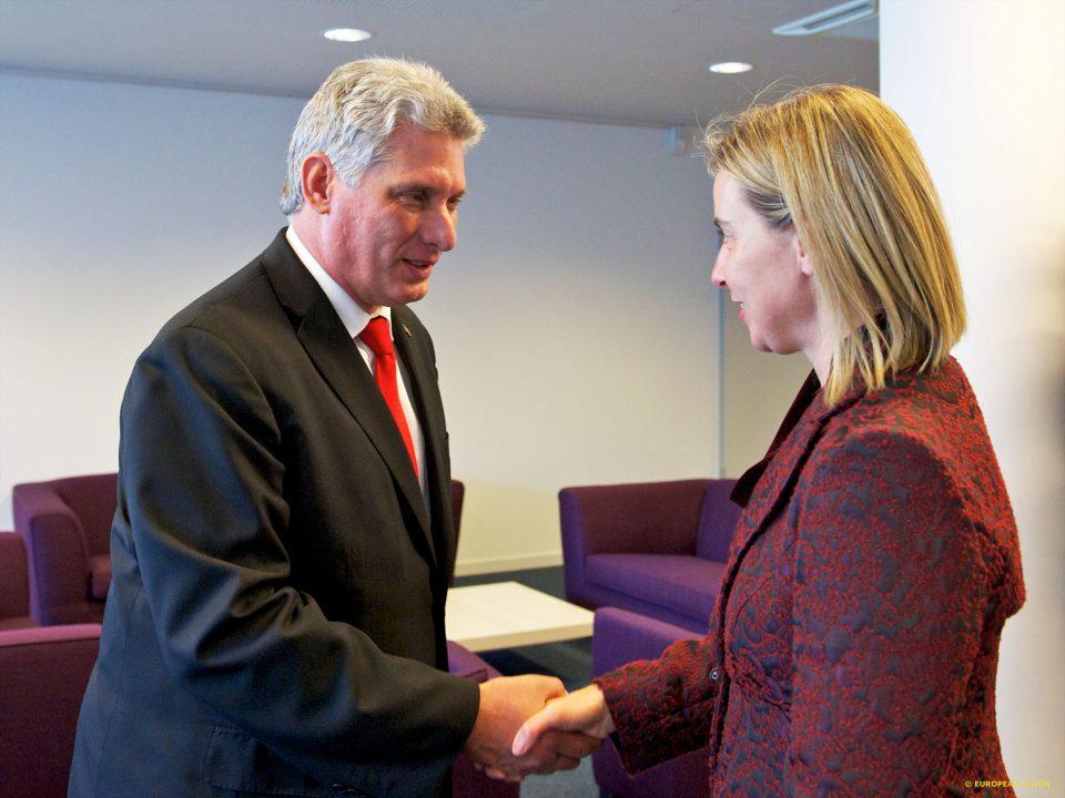 С ръководителката на европейската дипломация Федерика Могерини в Брюксел. Снимка: European Commission
