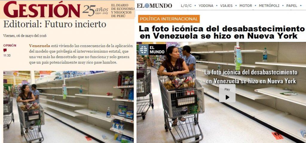 """Ето съпоставката между уж """"венесуелския"""" кадър вляво и оригинала му, за който """"Ел Мундо"""" разкри, че е направен през 2011 г. в Ню Йорк. Източник: cazadebunkers"""