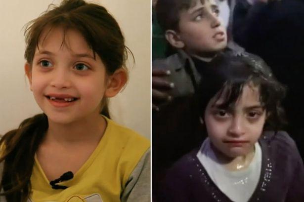 """Малката Маса от видеото на ВВС (вляво) и от видеото на """"Белите каски"""""""