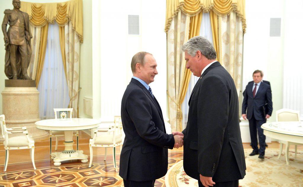 Диас-Канел е гостувал и на руския президент Владимир Путин в Кремъл. Снимка: Wikimedia Common
