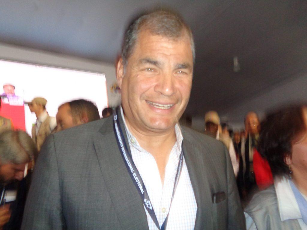 Рафаел Кореа, бившият президент на Еквадор, също бе сред международните наблюдатели на изборите във Венесуела. Снимка: Къдринка Къдринова