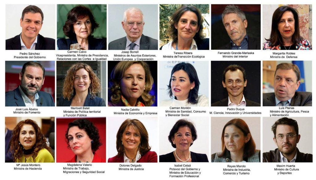 Ето ги всички членове на новото испанско правителство. Снимка: El Pais