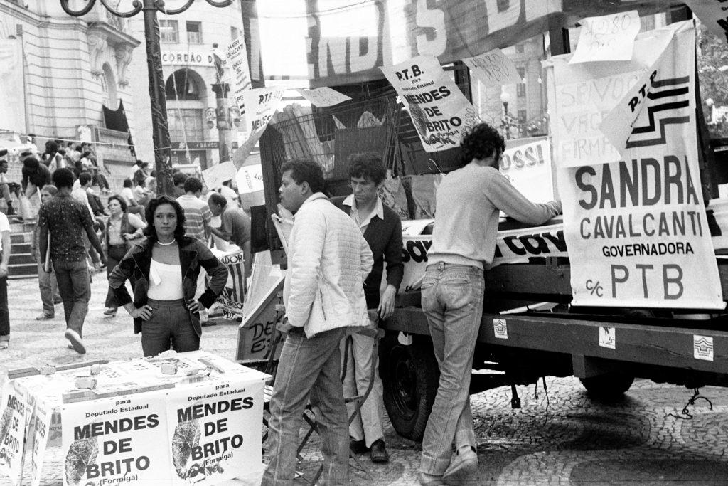 През 1968 г. Пенка Караиванова е снимала по улиците на Рио де Жанейро част от оживената кампания за избори на нов губернатор. Снимка: Пенка Караиванова