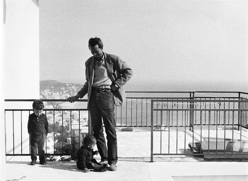 Вифредо Лам с двама от синовете си в Абисола, Италия, 1965 г. Снимка: museolam