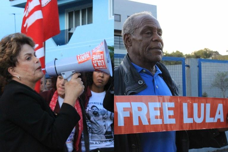 И Дилма Русеф, и Дани Глоувър участват активно в кампанията за освобождаване на Лула от затвора и за възстановяване на демокрацията в Бразилия. Снимка: cartacapital