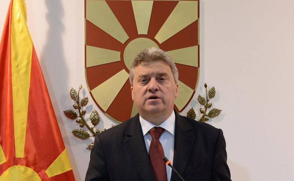 Президентът на Македония Георге Иванов. Снимка: balkaneu