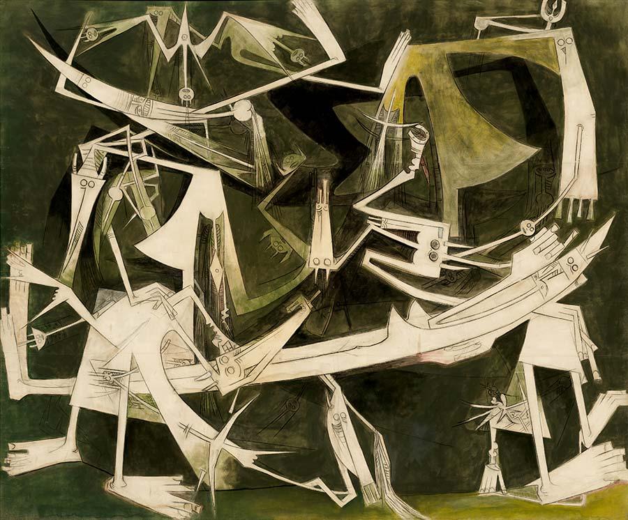 """Творбата """"Третият свят"""" на Вифредо Лам."""